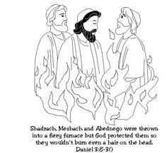 SHADRACH, MESHACH, & ABEDNEGO on Pinterest | Bible Story ...