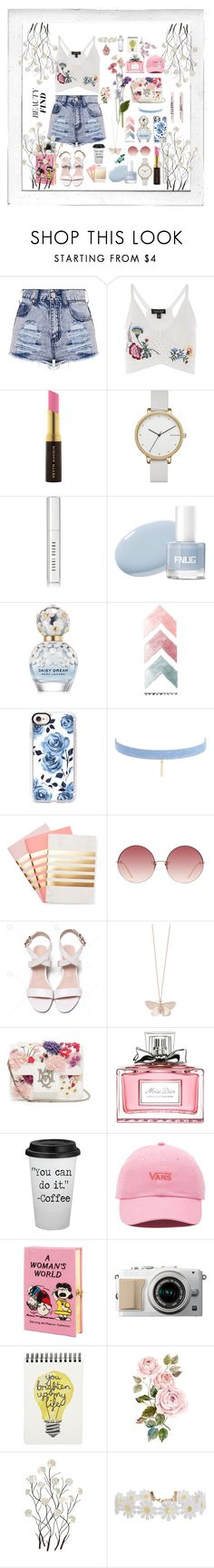 """""""short👒🌟"""" by olivia204 ❤ liked on Polyvore featuring Polaroid, Topshop, Kevyn Aucoin, Skagen, Bobbi Brown Cosmetics, Marc Jacobs, Casetify, Jules Smith, StudioSarah and Linda Farrow"""
