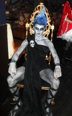 A well done Hades costume from Disney's Hercules. Even his smirk makes me think of James Woods.