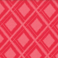 Moda V and Co Simply Color Ikat Diamonds Fabric in Spicy Hot Pink 10806 14 | eBay