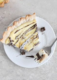 Cannoli Tart - flour, sugar, salt, cinnamon, butter, eggs, milk, ricotta, amaretto, chocolate chips.