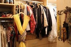 A visit to jewelry designer Kathy Rose's closet #closet #dressing_room #organization