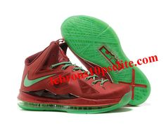Nike Lebron X 10 Christmas Red Green Style 541100 600 Retro Onlin 90ec6b716907
