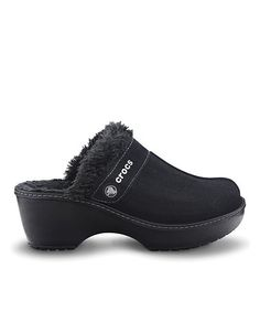 Take a look at this Black Crocs Cobbler Leather Clog - Women by Crocs on #zulily today!