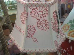 """""""Lampshades as a design element; Lakes Lampshade's Lampshade Lady takes lampshade making to an art. Diy Furniture Projects, Fun Projects, Make A Lampshade, Vintage Lamps, Drum Shade, Lamp Shades, Design Elements, Glow, Arts And Crafts"""