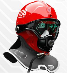 Funny pictures about Future firefighter helmet. Oh, and cool pics about Future firefighter helmet. Also, Future firefighter helmet. Wearable Technology, Technology Gadgets, Tech Gadgets, Cool Gadgets, Science And Technology, Tech Hacks, Futuristic Technology, Diving Helmet, Helmet Design
