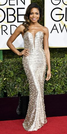 All the Glamorous Looks from the 2017 Golden Globes Red Carpet - Naomie Harris from InStyle.com