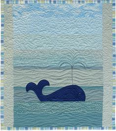 Whale Watching Baby Quilt Free Quilt Pattern Quilt