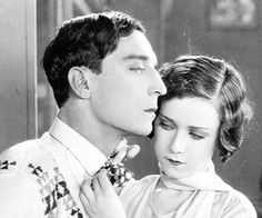 Buster Keaton and Marion Byron in Steamboat Bill Jr 1928