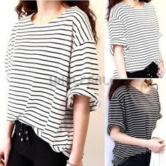 Fashion Womens Short Sleeve OverSize T Shirt Casual Loose Tops Blouse Hot Sale
