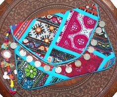 Indian Tote Bags Vintage Clutch Banjara Patchwork Clutch Handmade Mirror Hand Embroidered Purse Bags