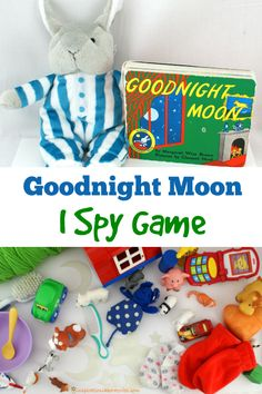 Play a fun I spy game to go along with Goodnight Moon by Margaret Wise Brown. Part of the Virtual Book Club for Kids.