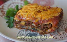 !Βίγκαν Συνταγές!: Λαζάνια με σπανάκι και κιμά σόγιας