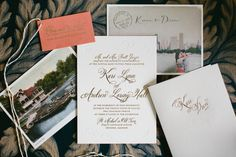 Gold Vintage Wedding Invitations | photography by http://www.pencarlsonblog.com/
