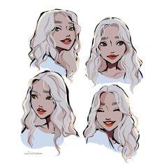 Cute Art Styles, Cartoon Art Styles, Cartoon Faces, Female Cartoon, Art Drawings Sketches, Cute Drawings, Cartoon Drawings, Drawing Expressions, Chef D Oeuvre