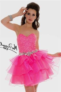 Awesome Neon Pink Cocktail Dress 2018