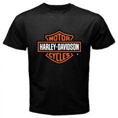 harley davidson logo men women t-shirt black