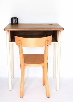 gorgeous kids bureau desk and wooden vintage inspired chair