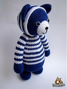 Návod na háčkovaného medvedíka (cca 27cm) by Rozarrka - SAShE.sk - Handmade Hračky