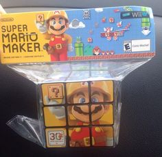 Super Mario Maker Wii U RUBIKS CUBE 3D Puzzle Exclusive USA Free Shipping