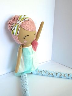 Rag Doll Limitied Edition Cloth Doll by Mend by MendbyRubyGrace