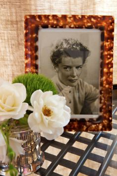 I love the idea of having the picture of a movie star on a table...  Heeheehee...  Put it in the guest bedroom!  Make people ask questions  ;-)