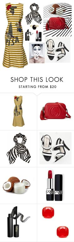 """Untitled #47"" by loveazerbayjani ❤ liked on Polyvore featuring Dolce&Gabbana, Gucci, Marimekko, Christian Dior, INIKA, Kate Spade and Andrea Fohrman"