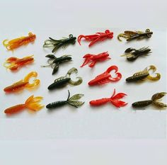 16pcs/lot Soft Worm Baits Fishing Lures For Bass Fishing