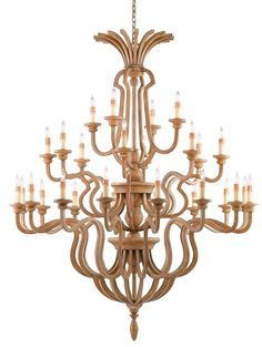Inspired by finely sculpted wood, the Impressario is finished in a Chestnut color replicating the warm hue of the tree. Three layers of lights reaching over six feet tall make this statuesque stunner a truly grand light ideal for soaring ceilings.