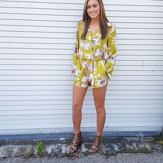 Rompers are perfect for these warm fall days!! Our Tabitha Romper is only $35 and is available in small medium and large!!  Comment your size and email address to purchase now.   #talktaylortome #fallfashion #trendsetter #romperobsessed #printsonprints #daytonboutique #shoplocal
