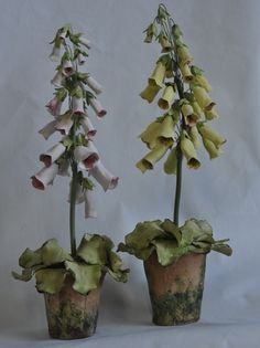 Foxglove Porcelain Flower Pot