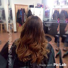 Dark brown to light brown balayage ombré. Hair color, long hair, brown hair #sugarnspicesalon #hair #amazinghair #rusk #richhaircolor