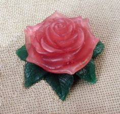 Rose soap pink glycerine in handcrafted box Mothers day gift