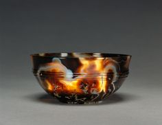 Bowl; Unknown; Egypt; 1st - 2nd century; Agate; 3.8 x 9.1 cm (1 1/2 x 3 9/16 in.); 72.AI.38
