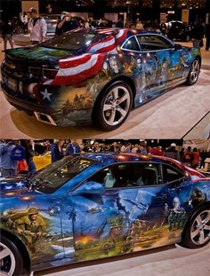 support the troops. Chevrolet Camaro, Chevy, Donk Cars, Pontiac Grand Prix, First Car, Car Wrap, Dodge Challenger, American Pride, Amazing Cars