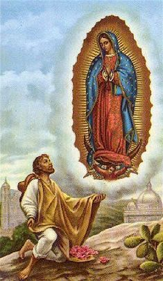 Prayer: Lord Jesus, you continue the miracles of the past and turn death into life. Through Our Lady of Guadalupe may we spread that hope everywhere. Catholic Religion, Catholic Art, Catholic Saints, Religious Art, Catholic Crafts, Blessed Mother Mary, Divine Mother, Blessed Virgin Mary, San Juan Diego