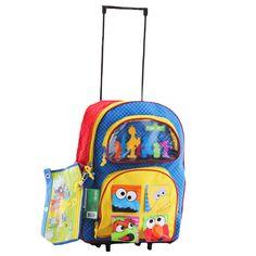 La valise enfant Elmo pour l'école primaire - Un sac à dos à roulettes pas cher Rue Sésame avec Elmo et Cookie Monster pour enfantn coloré et pratique  http://www.lamaisontendance.fr/catalogue/valise-enfant-ecole-elmo-rue-sesame/  #bagage #trolley #sesame #elmo #école #sac #valise