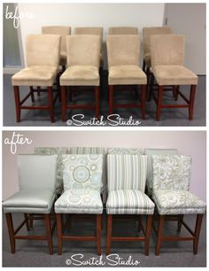 These chairs came out so beautifully!  another pinner said: I have to do this, I want these chairs, I love it !