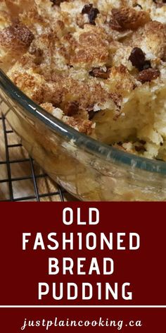 Old fashioned bread pudding is an easy and simple homestead recipe to use up eggs, milk and stale bread Comfort food at its best breakfast, dessert, or snack! is part of Old fashioned bread pudding - Desserts Nutella, Pudding Desserts, Köstliche Desserts, Easy Pudding Recipes, Snack Recipes, Dessert Recipes, Cooking Recipes, Old Fashion Bread Pudding Recipe, Bread Pudding Recipe With Vanilla Sauce
