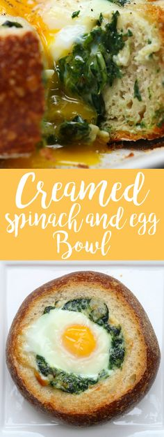 Creamed Spinach And Egg Bowl