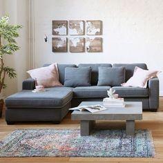Ecksofa Madrid, Longchair links, 100% Baumwolle B228 x T169 x H66 cm
