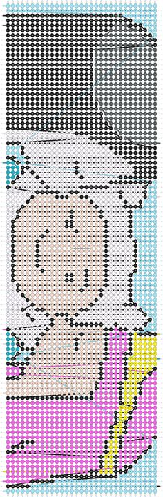 Adventure time friendship bracelet pattern number 5778 - For more patterns and tutorials visit our web or the app!