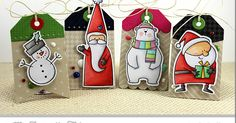We challenged our team to craft some Christmas cheer for this month's Creative Team Challenge. Tag Builder Blueprints 2 Die-namics was the perfect choice for creating this quartet of holiday tags. 3d Christmas, Christmas Paper Crafts, All Things Christmas, Handmade Christmas, Christmas Projects, Christmas Gift Tags, Holiday Cards, Handmade Gift Tags, Candy Cards