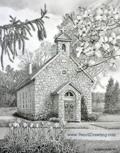 Saint Marys Chapel by N. Santoleri - Pencil 2011