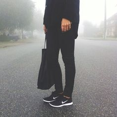 all black  Nikes ☑