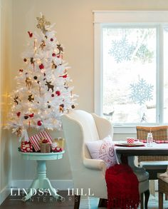 White tree in the dining area