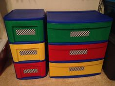 Use checkered duct tape to turn most anything car themed - car or race car bedroom