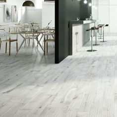 Like the capital of Norway, our Oslo White wood tiles are cool and contemporary. We're pretty sure you wont find tiles this good elsewhere! Light Grey Wood Floors, Grey Hardwood Floors, Wood Tile Floors, Engineered Hardwood, Wood Effect Floor Tiles, Wood Tile Bathroom Floor, Grey Floor Tiles, Wood Like Tile, Grey Wood Tile