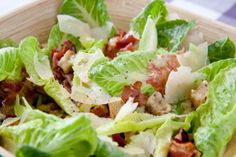 Garlicky Caesar Salad is an excellent recipe. #bosssalad