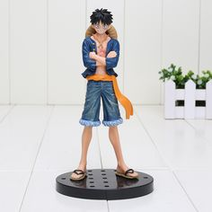 One Piece Monkey D Luffy Jeans Figure 17cm //Price: $18.00 & FREE Shipping //     #onepieceluffy #onepiecefigure #dluffystore